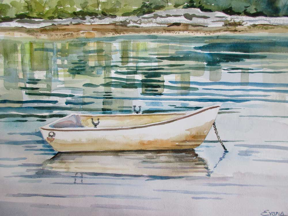 Solitude, a watercolor painting by Gwendolyn Evans