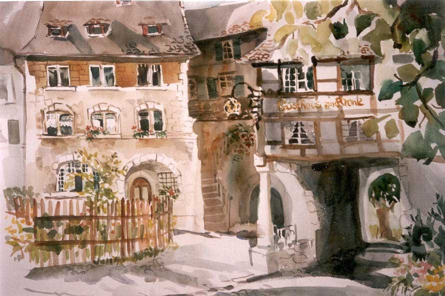 Switzerland Watercolor Gwendolyn Evans